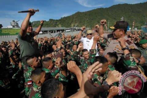 350 Prajurit TNI Yonif 715/Motuliato Diberangkatkan