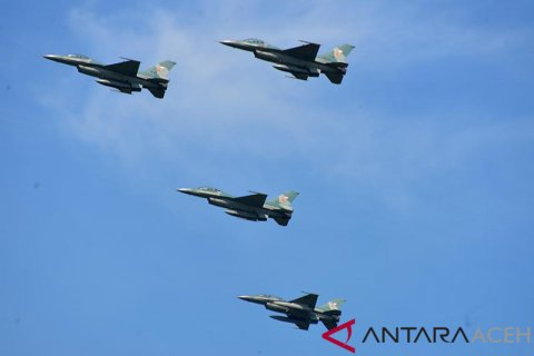 Pesawat tempur patroli udara di Aceh
