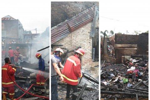 Empat rumah warga Binjai terbakar, kerugian ditaksir ratusan juta rupiah