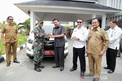 BNN, Kodim 0209/LB dan Kesbangpol dapat hibah mobil dari Pemkab Labura