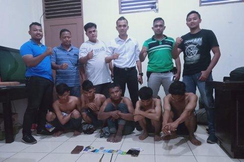 Polisi tangkap lima pelaku kejahatan di gerbang tol Tanjung Mulia, ini identitasnya
