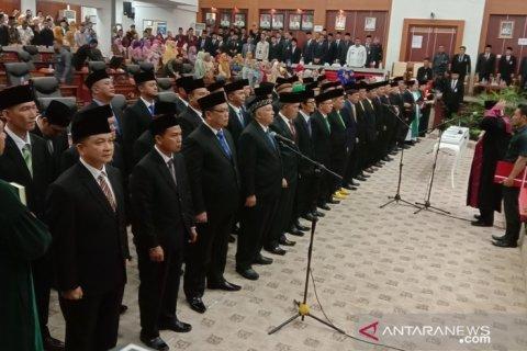 Pelantikan 45 anggota DPRD Babel periode 2019-2024