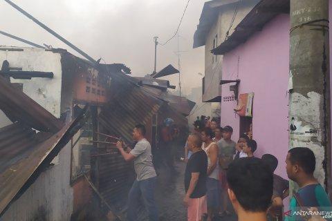Ratusan rumah hangus terbakar di Jalan Sentosa Lama Medan