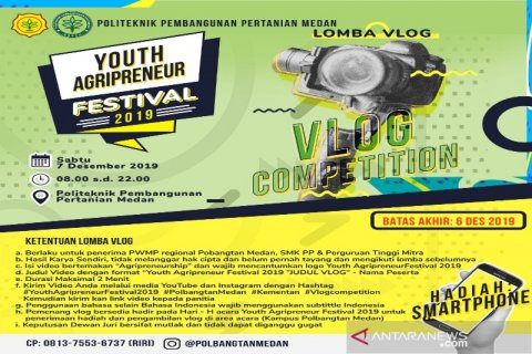 Polbangtan Medan akan gelar Youth Agripreneur Festival