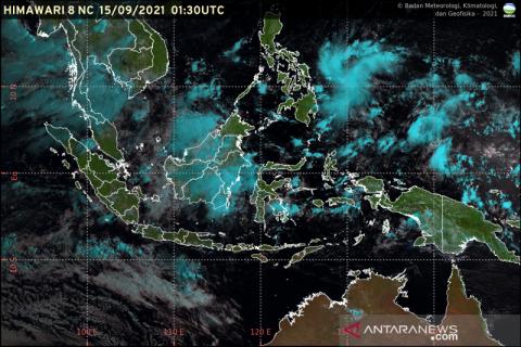 Mayoritas wilayah Indonesia cerah berawan