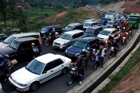 Bandung - Lembang macet 5 km