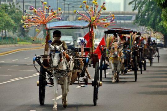 Puluhan kusir delman gelar aksi di Balai Kota Jakarta