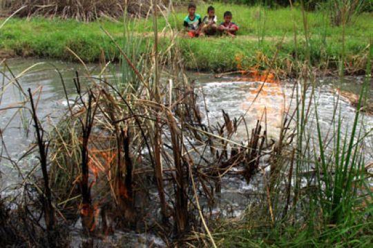 Semburan gas dari sumur bor di Purworejo berhasil ditutup