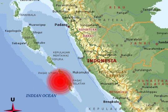 Gempa dua kali guncang Mentawai