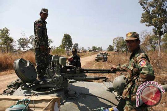 Kamboja  robohkan bangunan buatan AS di pangkalan Angkatan Laut