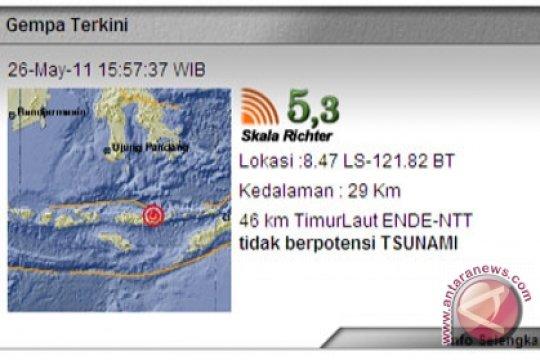 Gempa tektonik guncang Ende