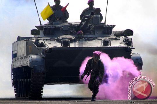 60 Prajurit Marinir Jadi Pengawak Tank Amfibi