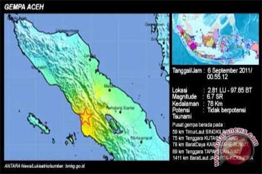 Puluhan rumah rusak akibat gempa di Singkil