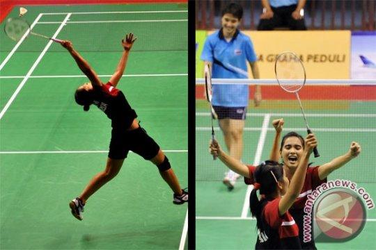 Suporter bulu tangkis Thailand tak kalah semangat
