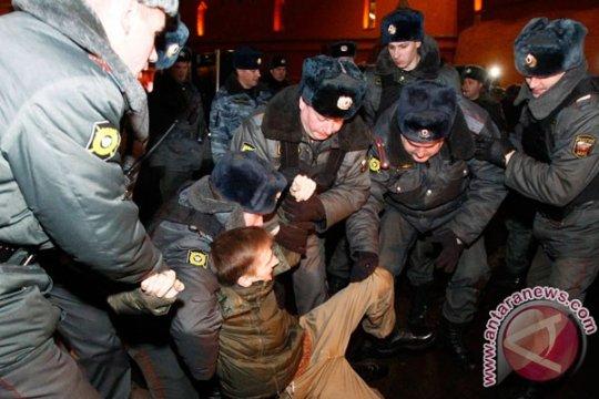 Rusia kirim pasukan ke Moskow setelah aksi protes