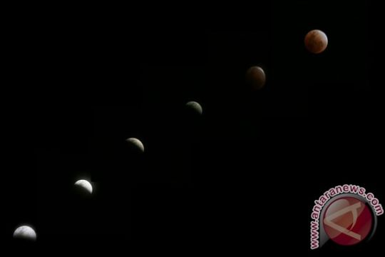 Sebagian warga Jember saksikan gerhana bulan