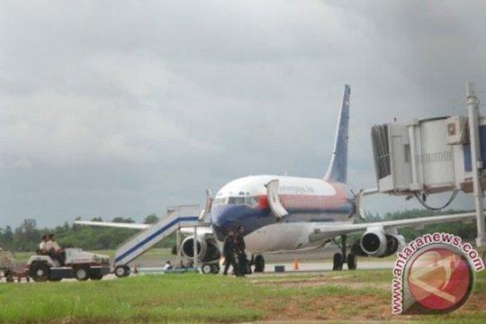 Pesawat Sriwijaya mendarat darurat di Palembang