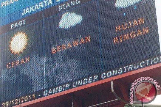 Jakarta diperkirakan berawan Jumat malam