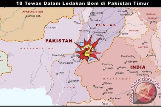 18 tewas dalam ledakan bom di Pakistan Timur