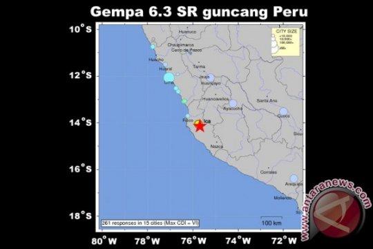 Gempa berkekuatan 7,5 magnitudo landa kawasan perbatasan Peru-Ekuador
