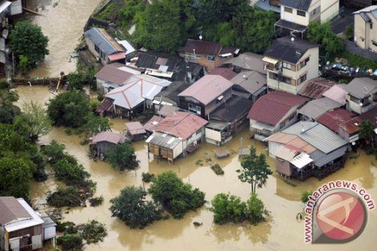 Jepang terjunkan pasukan penyelamat setelah hujan lebat di Kyushu