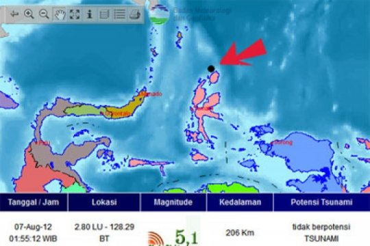 Gempa Morotai tak berpotensi tsunami
