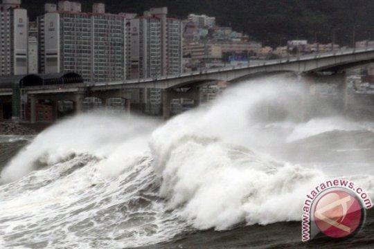 Korut sebut badai topan tewaskan lima korban, banjiri lahan pertanian