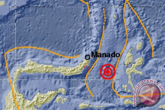 Gempa Ternate akibat sesar lempeng Laut Maluku