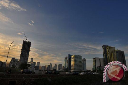 Sebagian besar Jakarta hujan siang ini