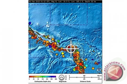 Gempa bermagnitudo 6,3 guncang Kepulauan Solomon