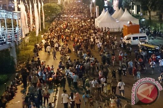 Jakarta Night Festival seru tapi melelahkan