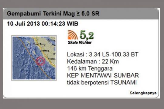 BMKG nyatakan peringatan dini tsunami di Sumatera berakhir