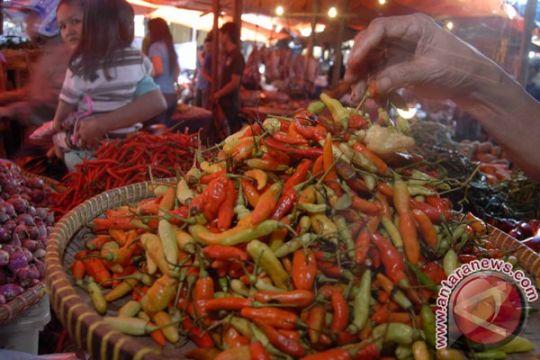 Harga komoditas pangan cenderung stabil, cabe naik sedikit