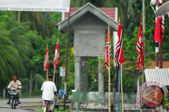 Kodim Pekalongan sita ribuan Bendera GAM