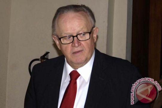 Martii Ahtisaari hadiri resepsi HUT ke-68 di Helsinki