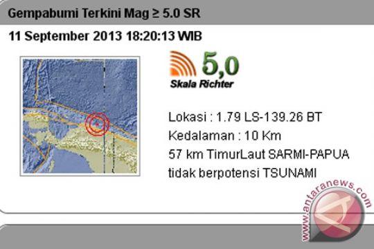 Gempa 7,5 SR guncang Papua Nugini