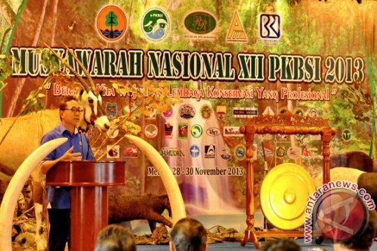 Kunjungan Kerja Menteri Kehutanan ke Medan Sumatera Utara, Kamis 28 November 2013.