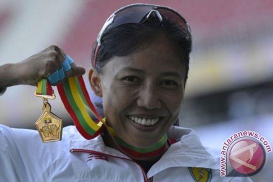 Dedeh sabet emas 100 meter gawang Kejurnas 2015