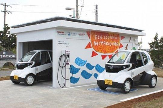Honda uji coba kendaraan mikro energi photovoltaic