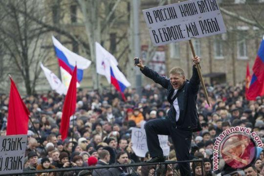 Demonstran di Moskow protes intervensi Rusia di Ukraina
