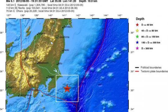 Jepang tak keluarkan peringatan tsunami terkait gempa Tokyo