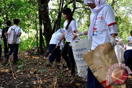 Kegiatan aksi bersih pelajar berhasil kumpulkan 455kg sampah