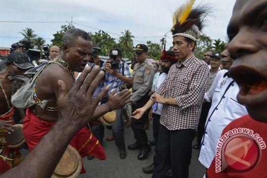 Presiden berdialog dengan masyarakat Papua