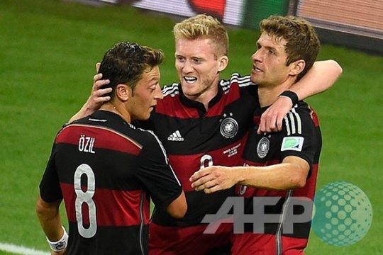 Jerman luluh lantakkan Brasil 7-1, jalan mulus ke Maracana