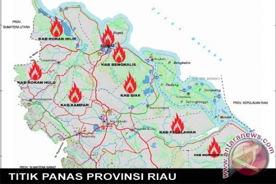 BMKG deteksi 15 titik panas di Riau