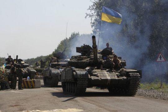 Pemberontak tembak jatuh pesawat jet Ukraina