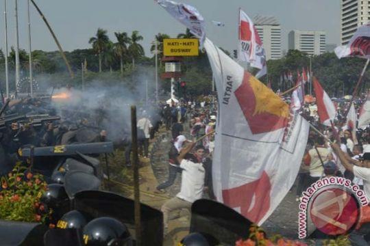 Polisi sebut delapan korban luka demo Mahkamah Konstitusi