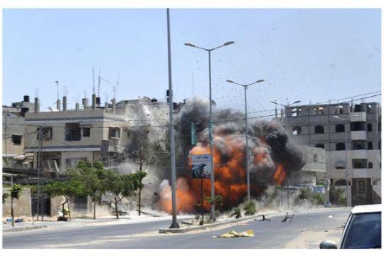 Serangan udara Israel pukul Gaza