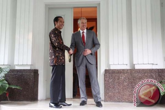 Mantan PM Inggris Tony Blair temui Jokowi