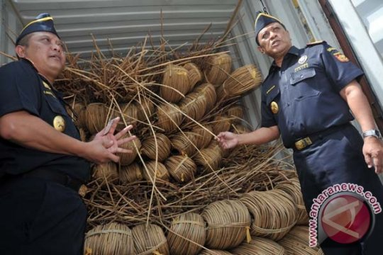 Penyelundupan 20 ton rotan di perbatasan Indonesia-Malaysia digagalkan